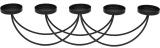 """Підсвічник металевий """"Ravenna Teco"""" на 5 свічок 58см, чорний"""