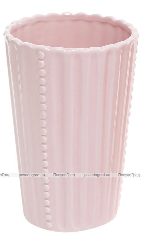 """Ваза керамическая """"Одри"""" 16см, розовая"""