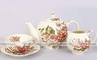 Чайный сервиз Cream Rose 250мл 15 предметов на 6 персон
