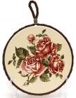 """Підставка під гарячий посуд Cream Rose """"Корейська Роза"""" Ø16см"""