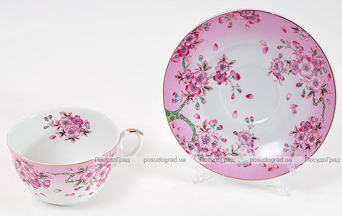 """Чайная пара """"Яблоневый цвет"""" чашка 250мл и блюдце"""