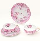 """Чайный набор """"Яблоневый цвет"""" 2 чашки 250мл и 2 блюдца"""