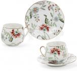 """Кофейный набор """"Альпийский сад"""" 2 чашки 125мл и 2 блюдца, фарфор"""