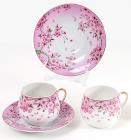 """Кофейный набор """"Яблоневый цвет"""" 2 чашки 125мл и 2 блюдца"""