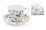 """Чайная пара """"Альпийский сад"""" чашка 450мл с блюдцем, фарфор"""