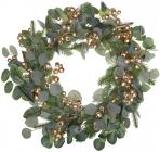 Декоративный венок «Золотые ягоды» Ø60см, искусственная хвоя