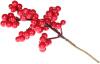 Набор 12 декоративные веточек «Красные Ягоды» 22см