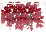 Набір 12 декоративні гілочок «Червоні Ягоди» 22см