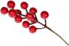 Набор 12 декоративные веточек «Бордовые Ягоды» 22см