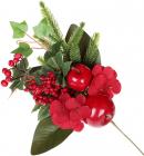 Декоративна гілка «Ягоди і яблука» 33см