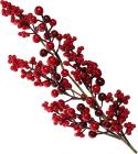 Декоративная ветка «Красные ягоды» 66см