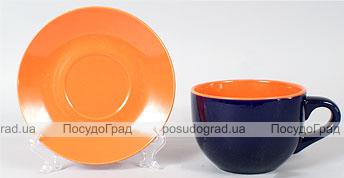 Чашка с блюдцем Sabo Mix Color 740мл