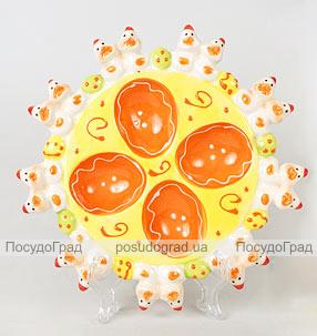 """Декоративная подставка """"Пасхальная"""" на 4 яйца"""