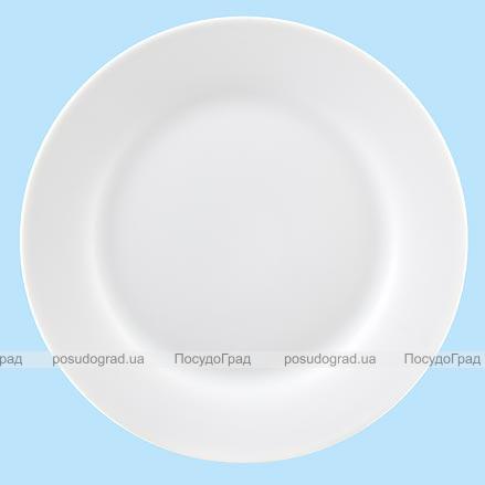 Тарелка столовая мелкая 23см круглая Белая, без рисунка