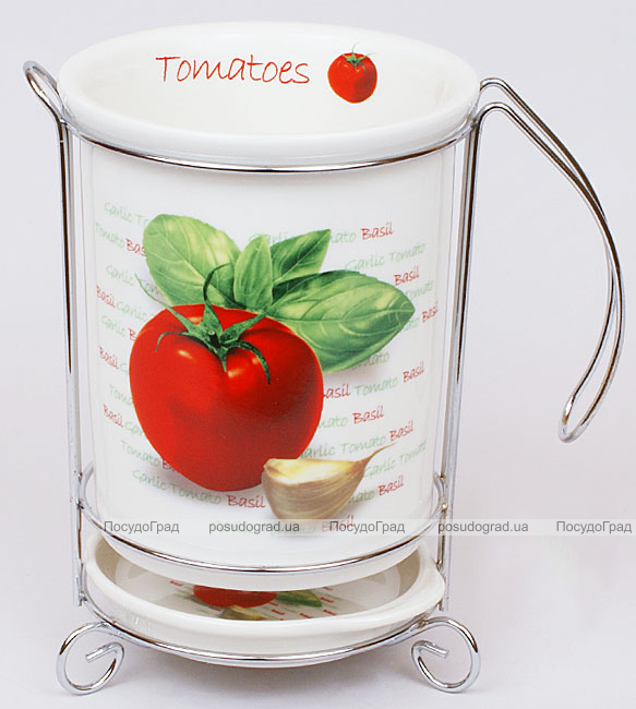 """Стакан для кухонных принадлежностей """"Bona Tomatoes I"""" с поддоном"""