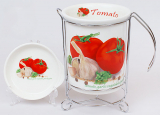 """Стакан для кухонных принадлежностей """"Bona Tomatoes II"""" с поддоном"""