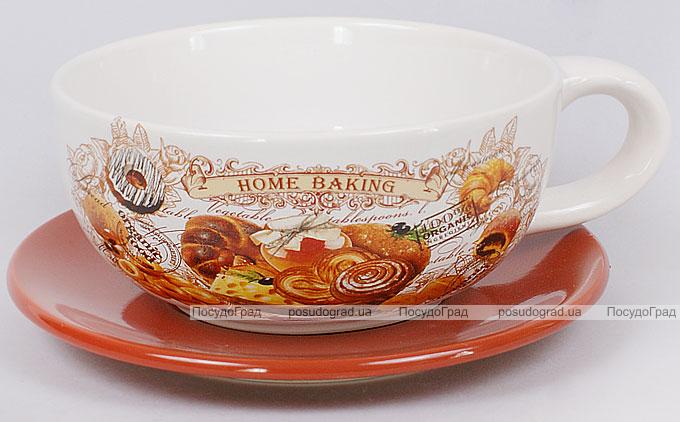 "Чашка с блюдцем ""Home Baking"" 450мл"