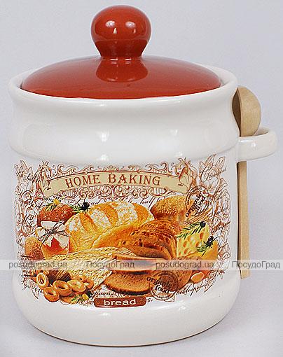 """Банка для сыпучих продуктов """"Home Baking"""" 900мл с деревянной ложкой"""