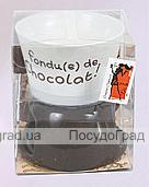 """Набор для фондю """"Мини"""" керамический с вилочкой"""