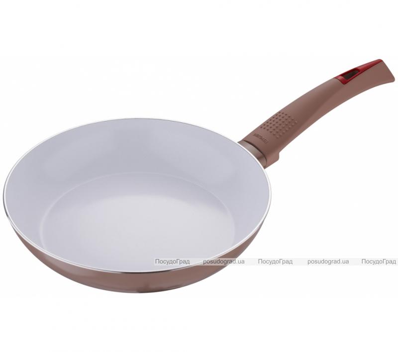 Сковорода Bergner Ultra CERA+ Ø22см, коричневая