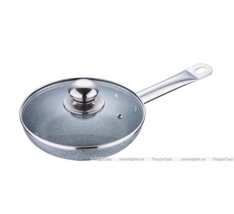Сковорода Bergner Marble Elegant Ø20см с жаропрочной крышкой