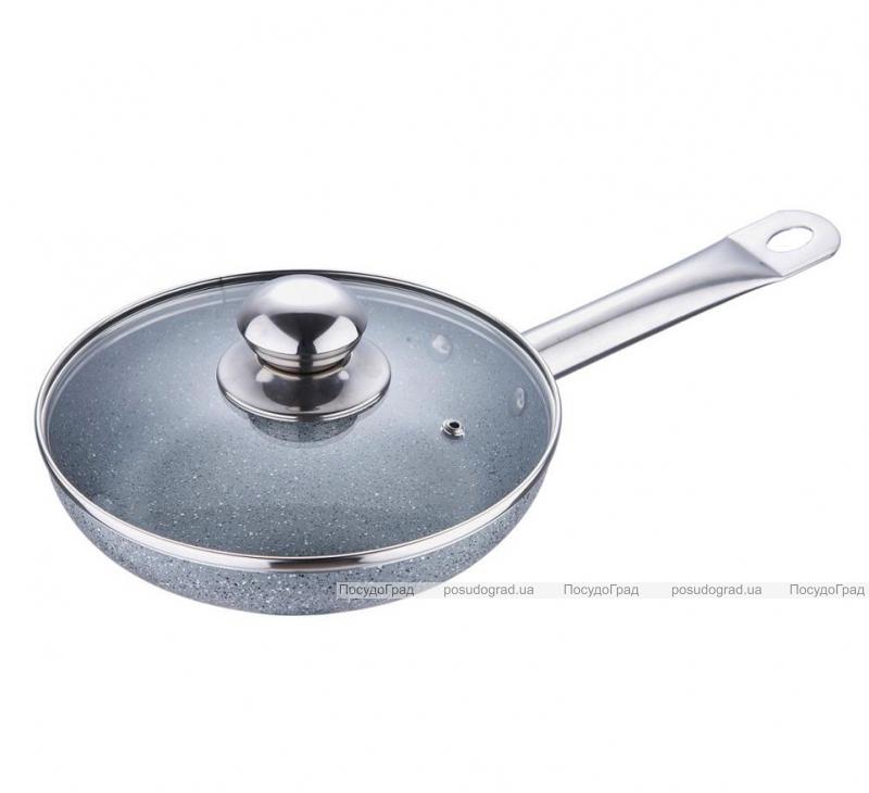 Сковорода Bergner Marble Elegant Ø26см с жаропрочной крышкой