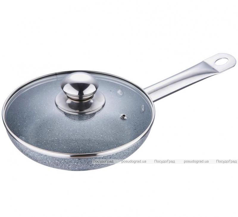 Сковорода Bergner Marble Elegant Ø28см с жаропрочной крышкой