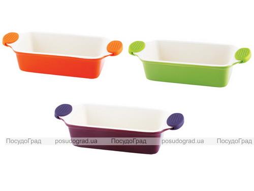 Форма для выпечки керамическая Bergner 13860 со съемными силиконовыми ручками