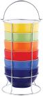 Набор пиал Wellberg Galle 6 керамических пиал 680мл на подставке