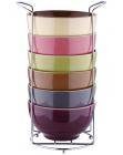 Набір піал Bergner Colore 680мл 6 піал на підставці