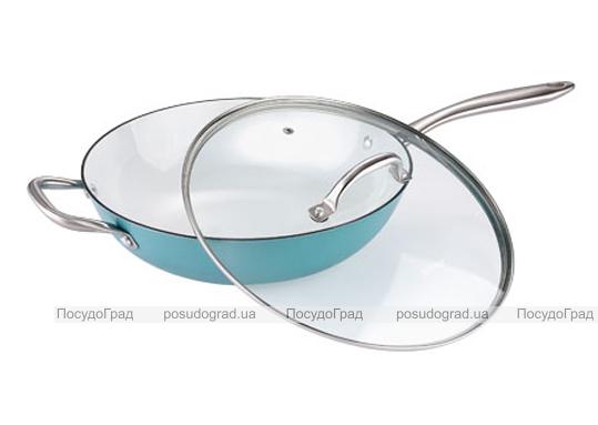 Сковорода-вок Bergner Эмалированный чугун 28х7,5см