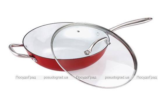 Сковорода-вок Bergner Эмалированный чугун 30х8,1см