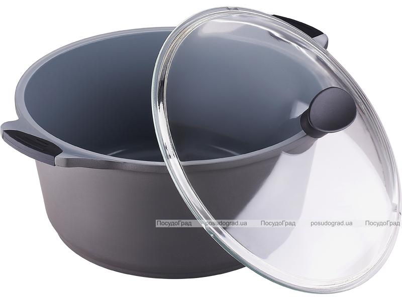 Кастрюля Bergner Nanoflam 6,8л с керамическим покрытием и со стеклянной крышкой