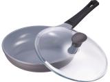 Сковорода Bergner Nanoflam 24см с керамическим покрытием и со стеклянной крышкой
