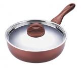 Сковорода-сотейник Bergner Contempo Professional Ø24см со стальной крышкой
