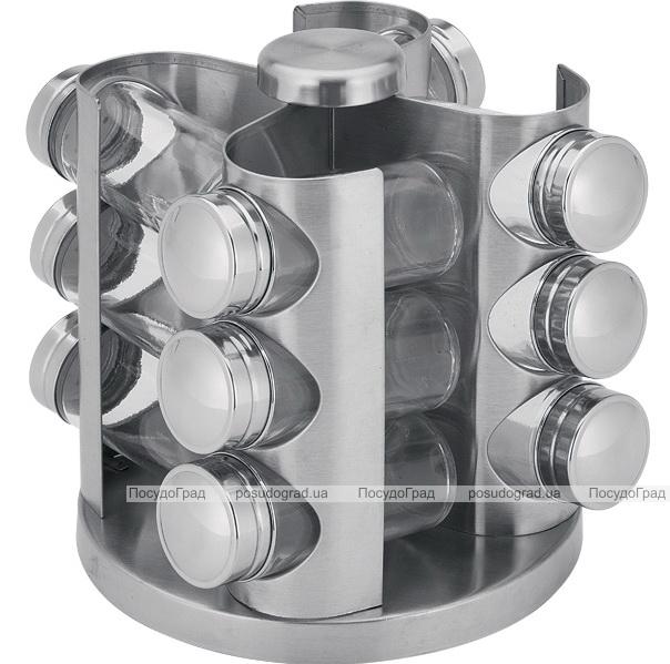 Набор для специй Bergner 12 емкостей на металлической подставке