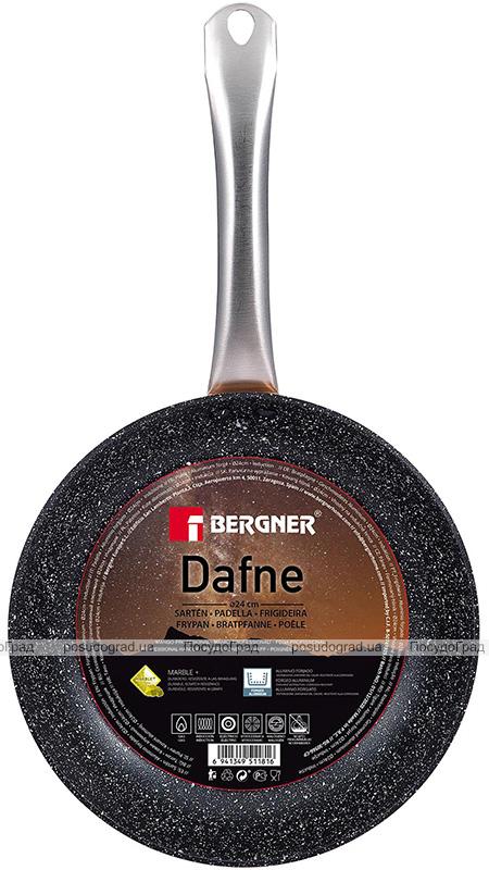 Сковорода Bergner Dafne Ø20см індукційна з мармуровим антипригарним покриттям, мідний