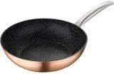 Сковорода-вок Bergner Dafne Ø28см індукційна з мармуровим антипригарним покриттям, мідний