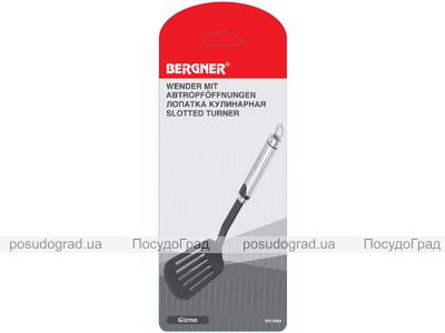 Лопатка Bergner 34х8см нейлоновая с ручкой из нержавеющей стали