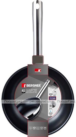 Сковорода Bergner Gourmet Ø24см из нержавеющей стали с антипригарным покрытием