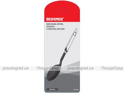 Ложка поварская нейлоновая Bergner с ручкой из нержавеющей стали