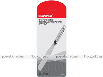 Лопатка-шпатель кулинарная Bergner 32см из нержавеющей стали