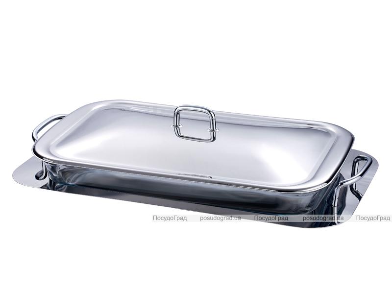 Блюдо сервировочное Bergner 3649 прямоугольное на подносе с ручками