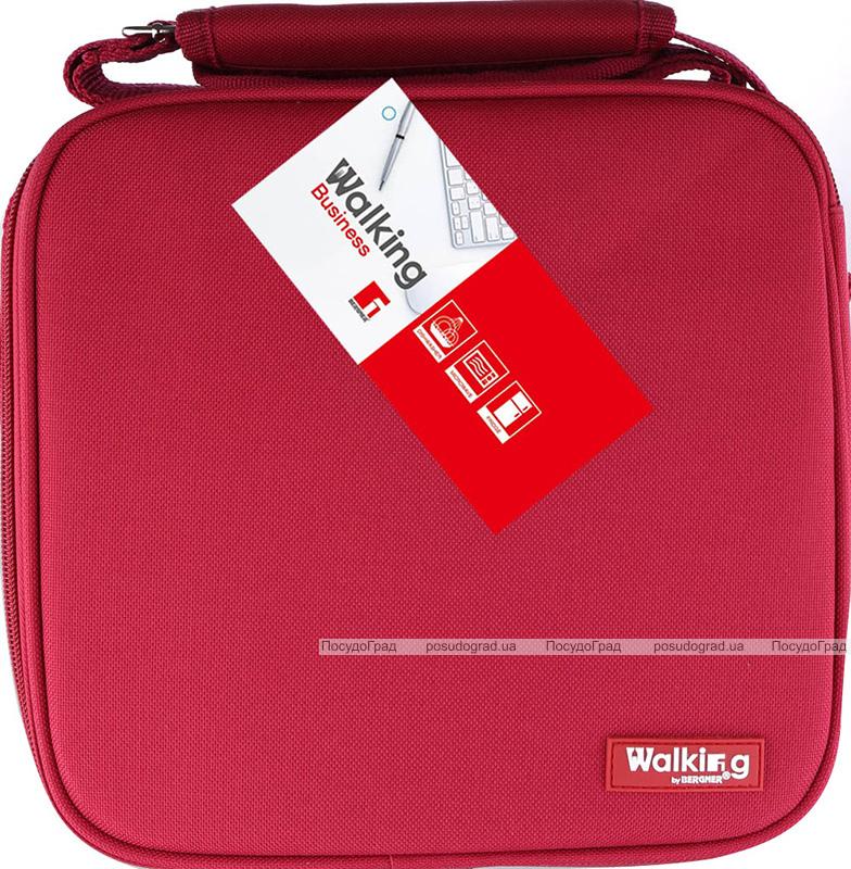 Ланч-бокс Bergner Delicacy Lunch 5 предметов в сумке, красный