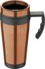 Термокружка Bergner Neon Bronze 400мл с силиконовой накладкой и ручкой