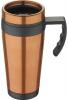 Термокружка Bergner Neon Orange 400мл с силиконовой накладкой и ручкой