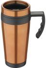Термокружка Bergner Neon Orange 400мл з силіконовою накладкою і ручкою