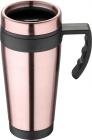Термокружка Bergner Neon Pink 400мл з силіконовою накладкою і ручкою