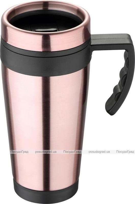 Термокружка Bergner Neon Pink 400мл с силиконовой накладкой и ручкой