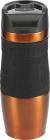 Термокружка Bergner Neon Orange 400мл з силіконовою накладкою